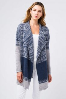 Marled Colorblock Cardigan - Kinross Cashmere