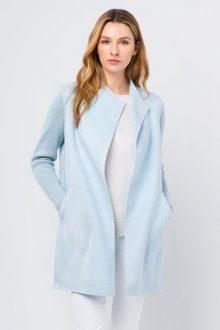 Ribbed Sleeve Coat - Kinross Cashmere