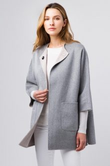 Reversible Dolman Coat - Kinross Cashmere