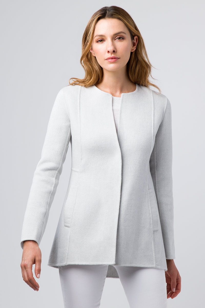 Rounded Hem Jacket - Kinross Cashmere