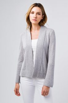 Textured Bell Sleeve Cardigan- Kinross Cashmere
