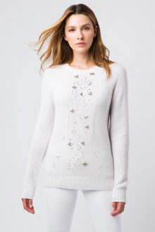 Crystal Textured Crew - Kinross Cashmere