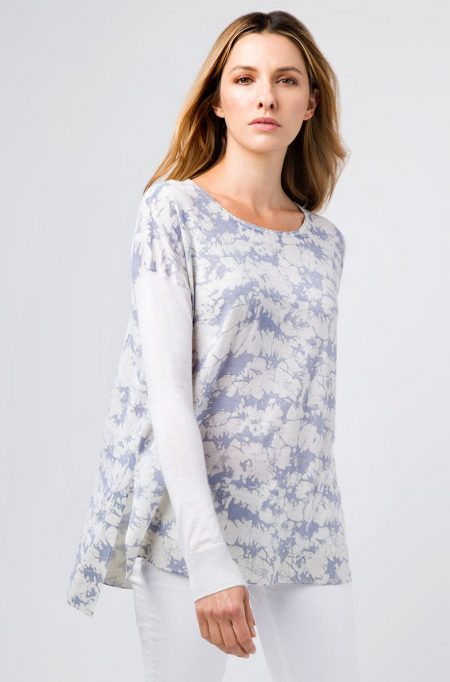 Worsted Print Pullover - Kinross Cashmere