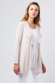 Front Seamed Cardigan - Kinross Cashmere