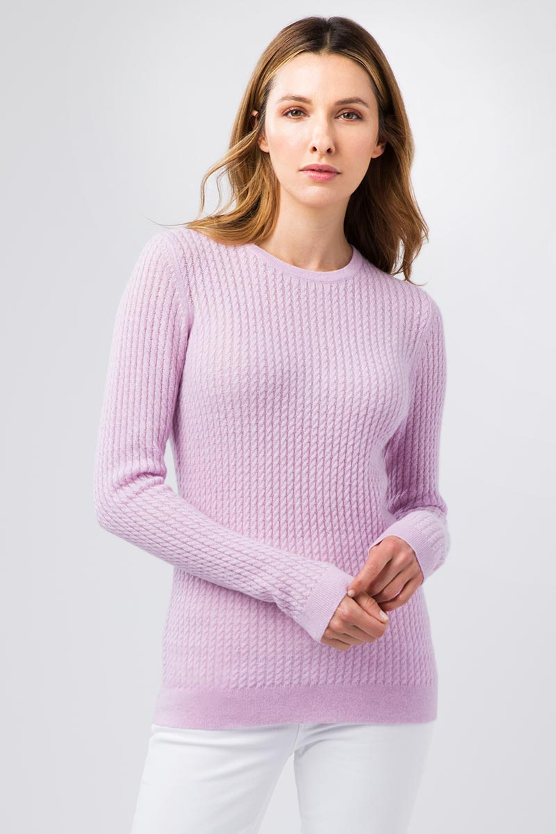 Micro Cable Crew - Kinross Cashmere