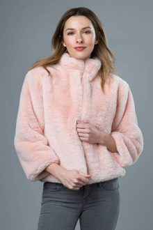 Reversible Faux Fur Cardigan - Kinross Cashmere