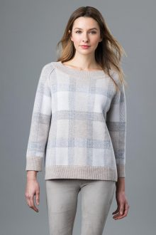 Reversible Plaid Pullover - Kinross Cashmere
