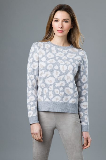 Reversible Leopard Pullover - Kinross Cashmere