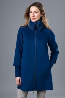 Fur Trim A Line Coat - Kinross Cashmere