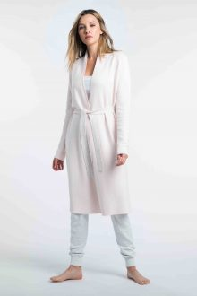 Reversible Long Belted Cardigan - Kinross Cashmere