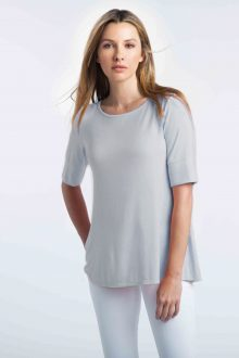 Elbow Sleeve Swing Crew - Kinross Cashmere