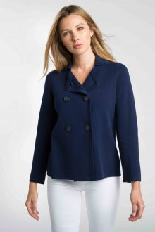 Double Knit Short Cardigan - Kinross Cashmere