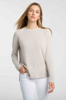 Piped Hi Low Sweatshirt - Kinross Cashmere