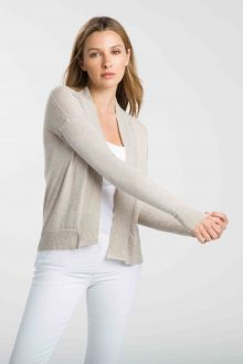 Worsted Hi Low Cardigan - Kinross Cashmere