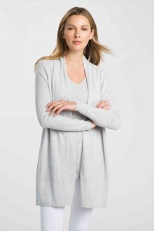 Worsted Rib Sleeve Cardigan - Kinross Cashmere