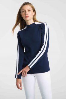 Stripe Sleeve Funnel - Kinross Cashmere