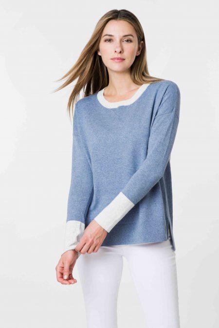 Colorblock Sweatshirt - Kinross Cashmere