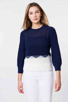 Colorblock Pullover - Kinross Cashmere