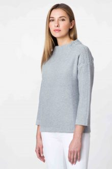 Textured Shoulder Funnel - Kinross Cashmere