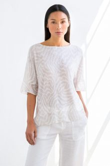 Faux Bois Pullover - Kinross Cashmere