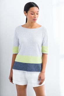 Easy Jacquard Pullover - Kinross Cashmere