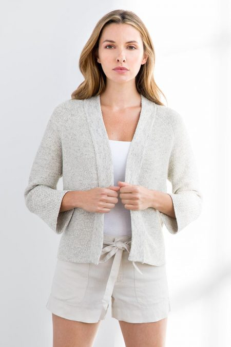 Bell Sleeve Cardigan - Kinross Cashmere