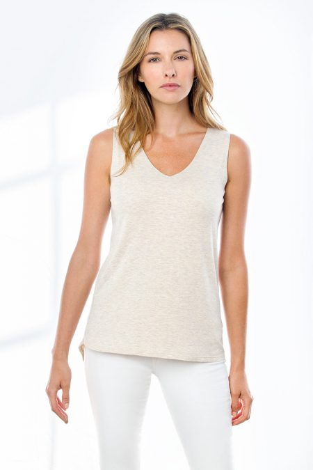 Double Layer Vee Tank - Kinross Cashmere