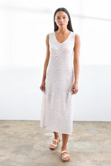 Faux Bois Dress - Kinross Cashmere