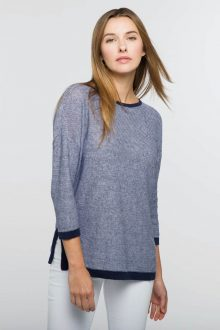 Easy Stripe Pullover - Kinross Cashmere