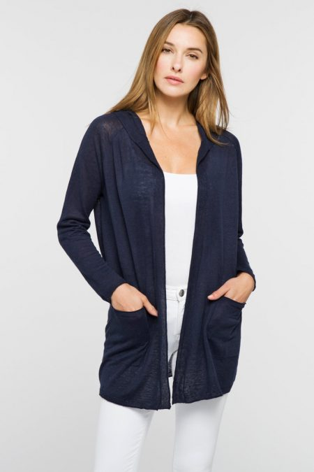 Open Front Hoodie - Kinross Cashmere