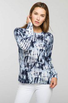 Batik Print Crew - Kinross Cashmere
