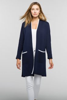 Double Knit Long Cardigan - Kinross Cashmere