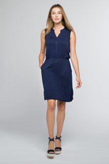 Drawstring Dress - Kinross Cashmere