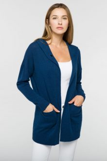 One Button Hoodie - Kinross Cashmere