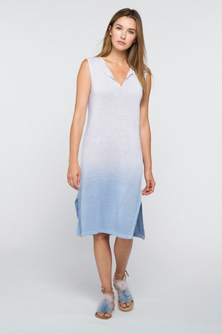 Ombre Stripe Dress - Kinross Cashmere