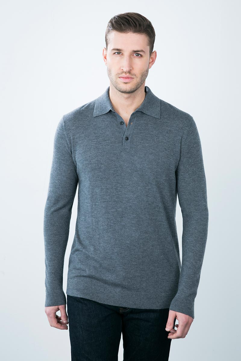 Kinross Cashmere | Worsted 3 Button Polo