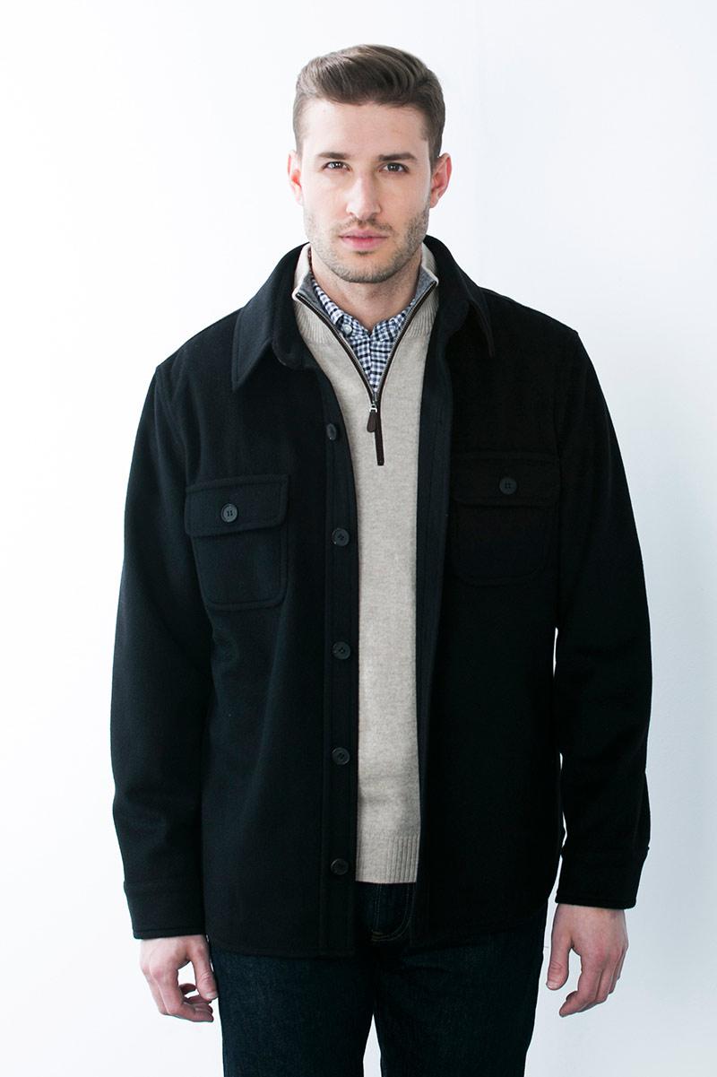 Kinross Cashmere | Shirt Jacket