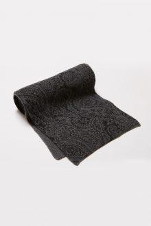 Allover Print 1/2 Cardigan Reverse Scarf Kinross Cashmere