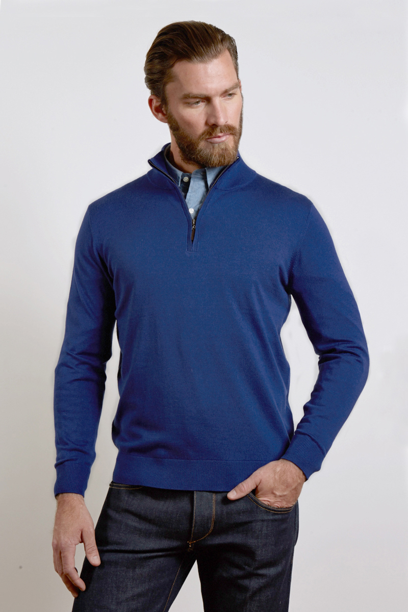 Gmt Dyed Qtr Zip Mock Kinross Cashmere