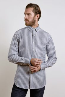 L/S Spread Collar English Placket Shirt - Liberty Print Kinross Cashmere