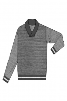 Marled Shawl Pullover - Kinross Cashmere
