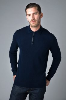 3 Button Polo - Kinross Cashmere