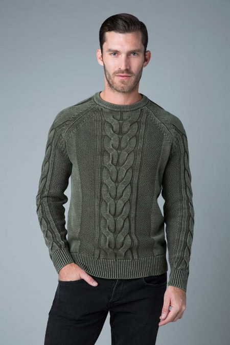 Fisherman Cable Crew - Kinross Cashmere