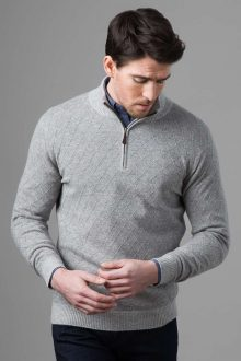 Lattice Qtr Zip - Kinross Cashmere