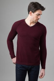 Exposed Seam Raglan Vneck - Kinross Cashmere