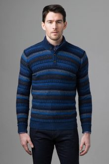Fairisle Button Mock - Kinross Cashmere