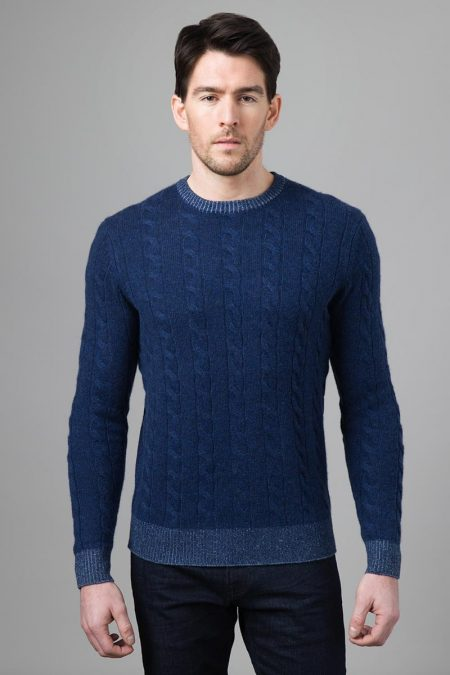 Plaited Cable Crew - Kinross Cashmere