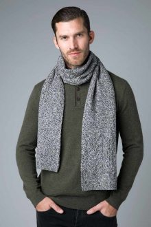 Marled Cable Scarf - Kinross Cashmere