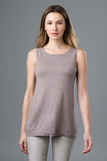 Worsted Back to Front Tank - Kinross Cashmere