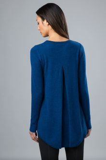 Pleat Back Pullover - Kinross Cashmere